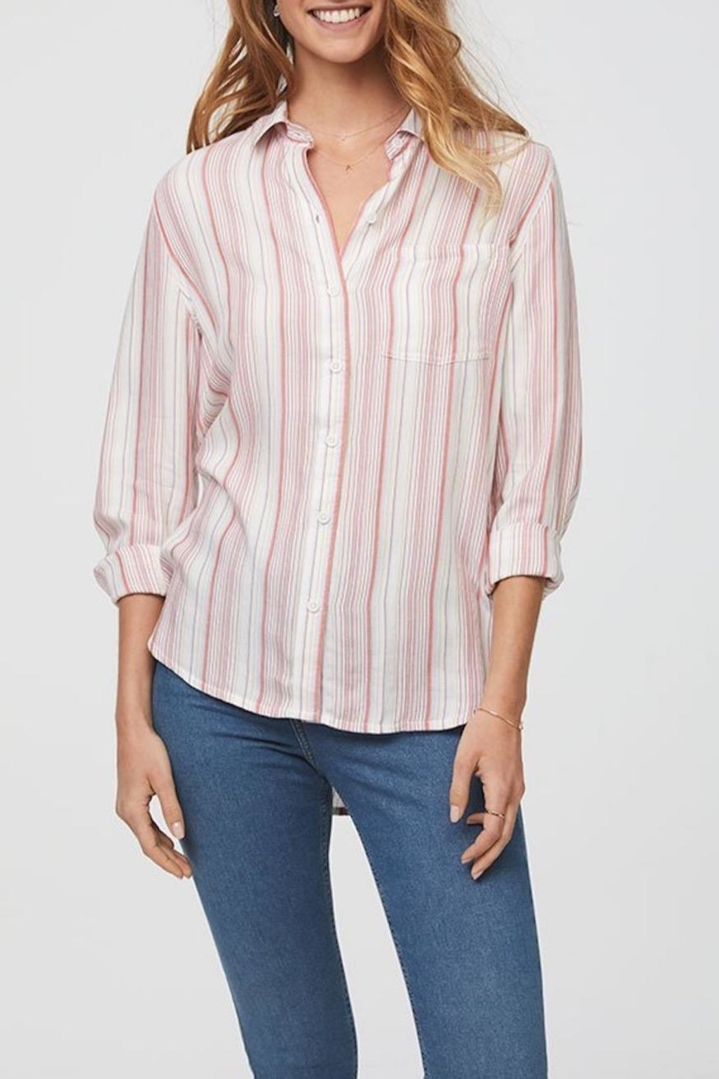 Beach Lunch Lounge Striped Button Down - Main Image