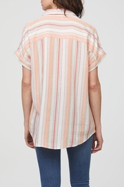 Beach Lunch Lounge Striped Short Sleeve - Front full body