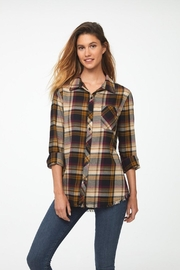 beachlunchlounge Wheat 'n Roses Flannel - Front cropped