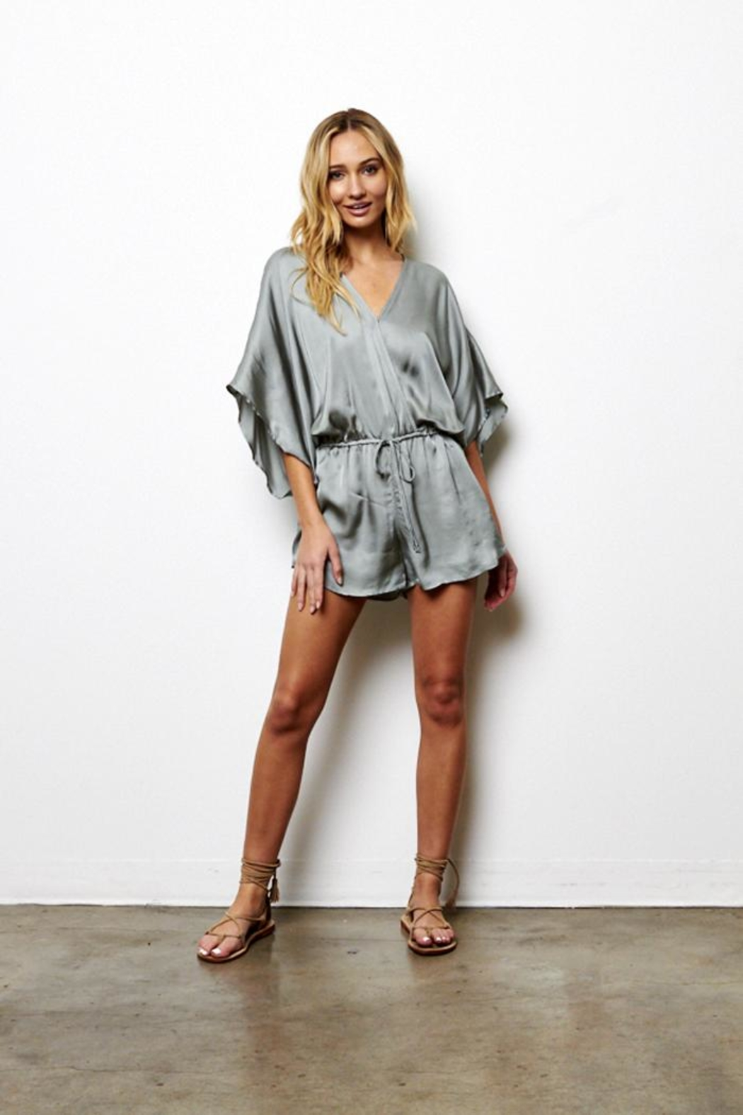 On The Road Beachbreaker Romper - Front Cropped Image