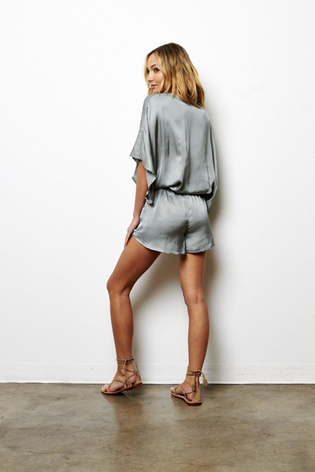 On The Road Beachbreaker Romper - Back Cropped Image