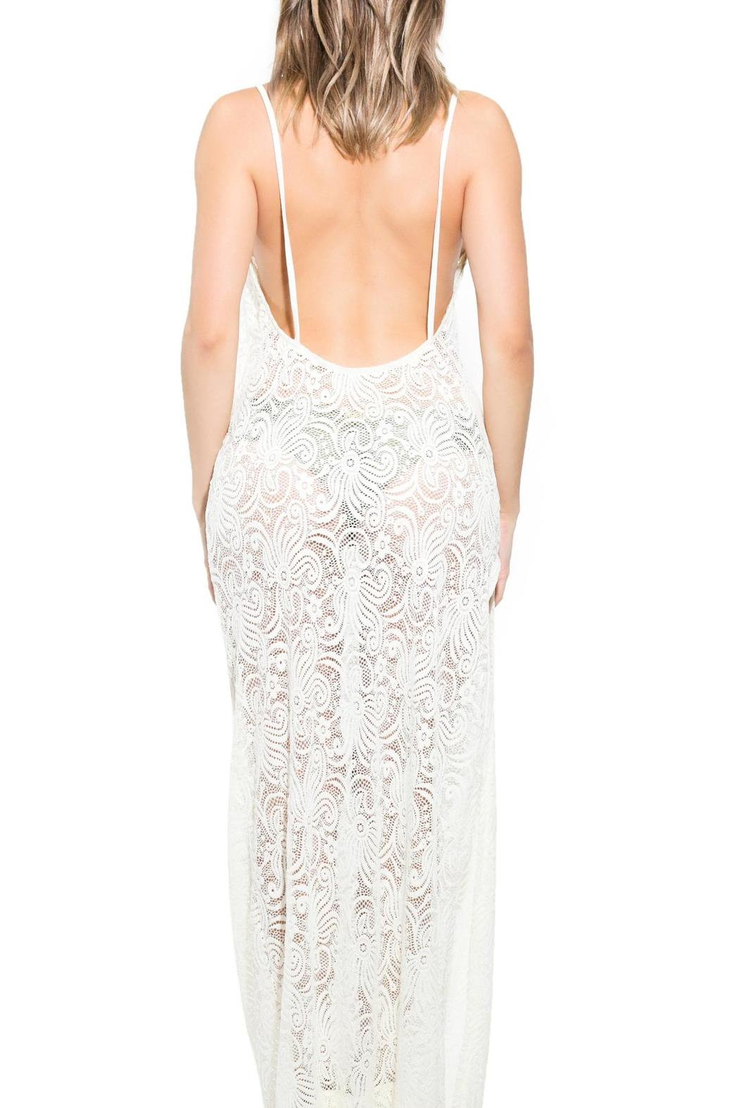 BeachCandy Backless Lace Coverup - Side Cropped Image