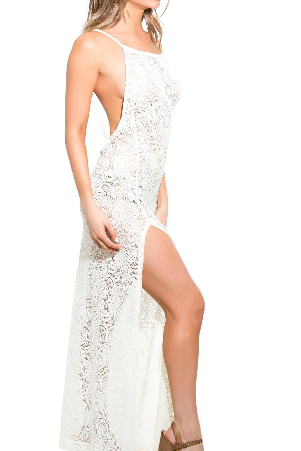 BeachCandy Backless Lace Coverup - Front Full Image