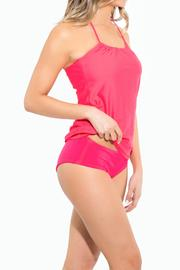 BeachCandy Halter Tankini Top - Front full body