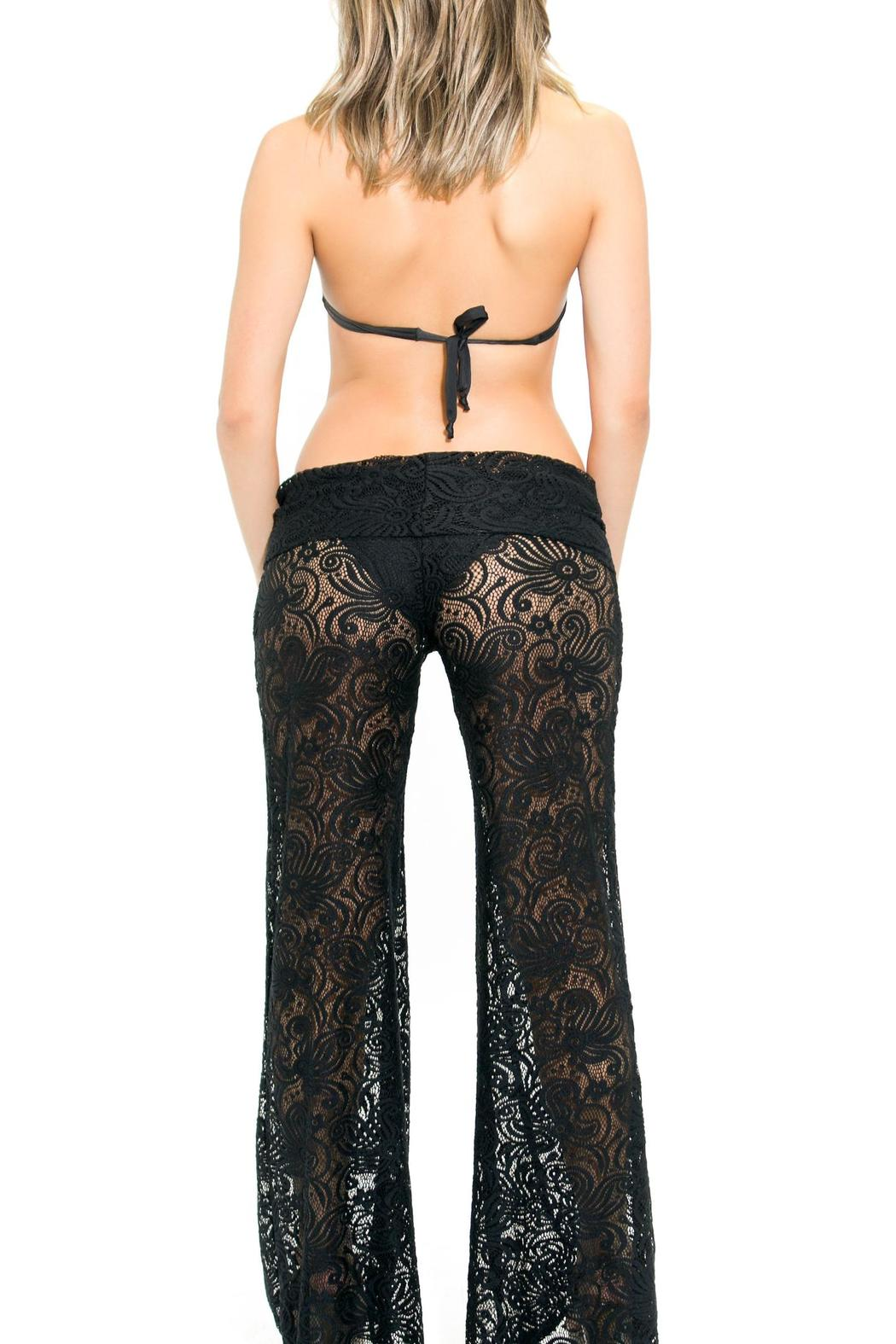 BeachCandy Lace Pants - Back Cropped Image