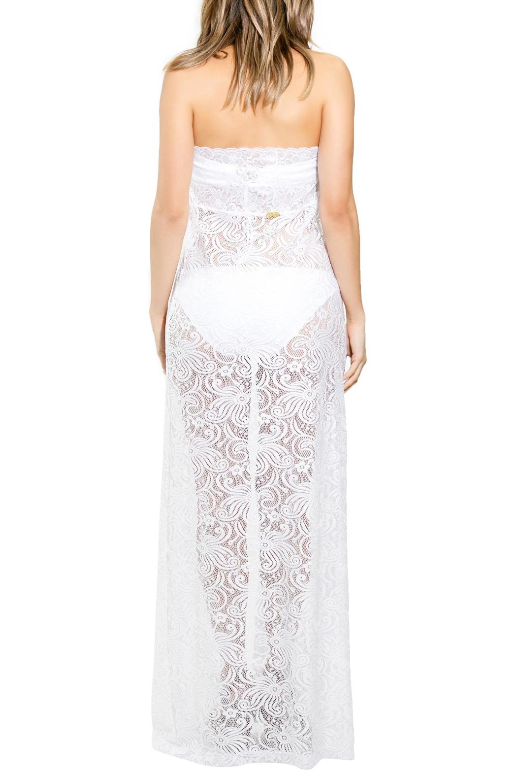 BeachCandy Long Lace Coverup - Side Cropped Image