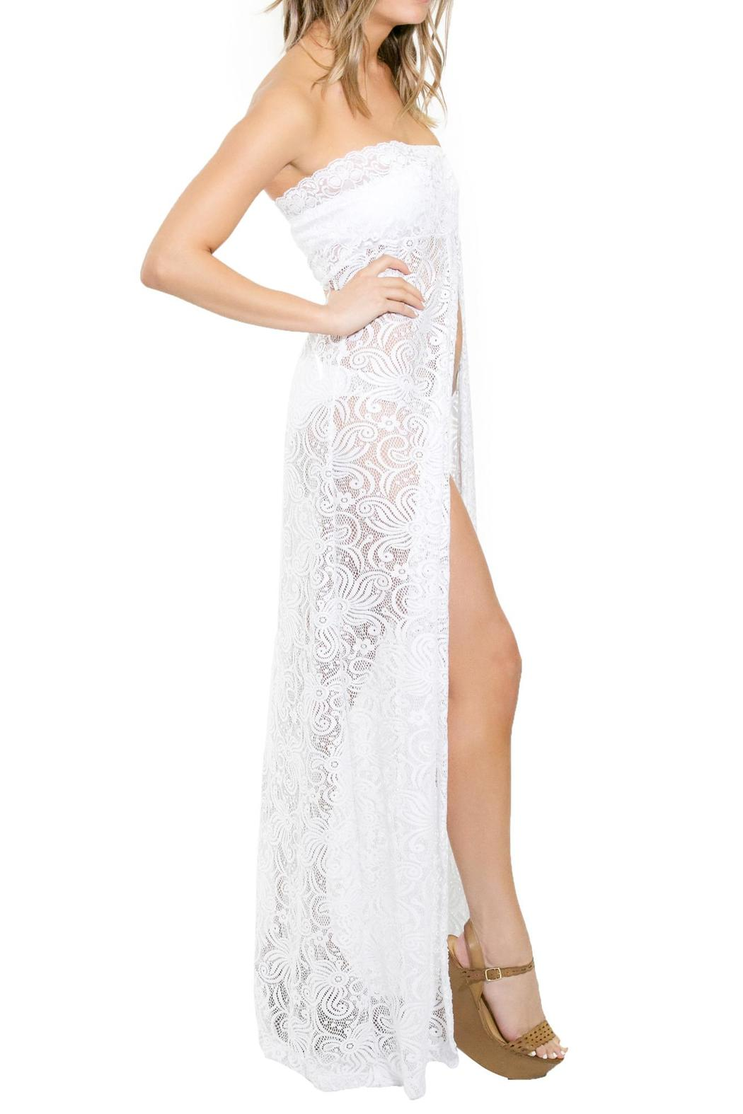 BeachCandy Long Lace Coverup - Front Full Image