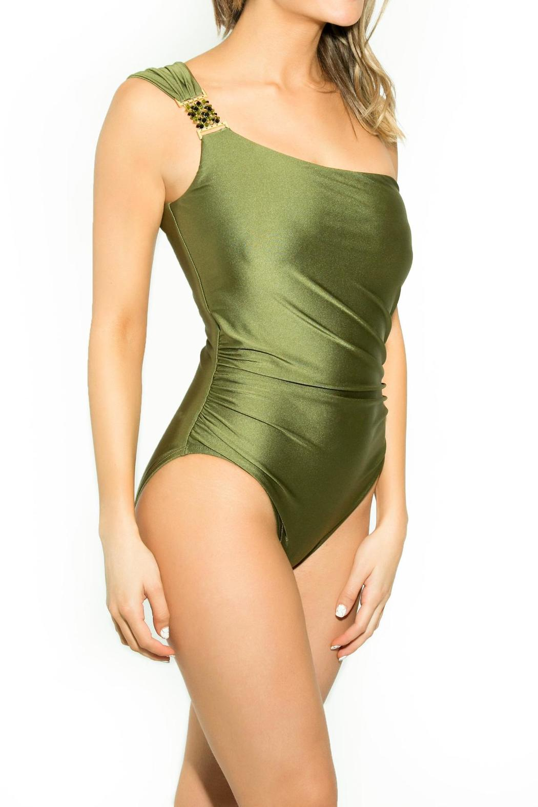 BeachCandy One Shoulder One Piece - Front Full Image