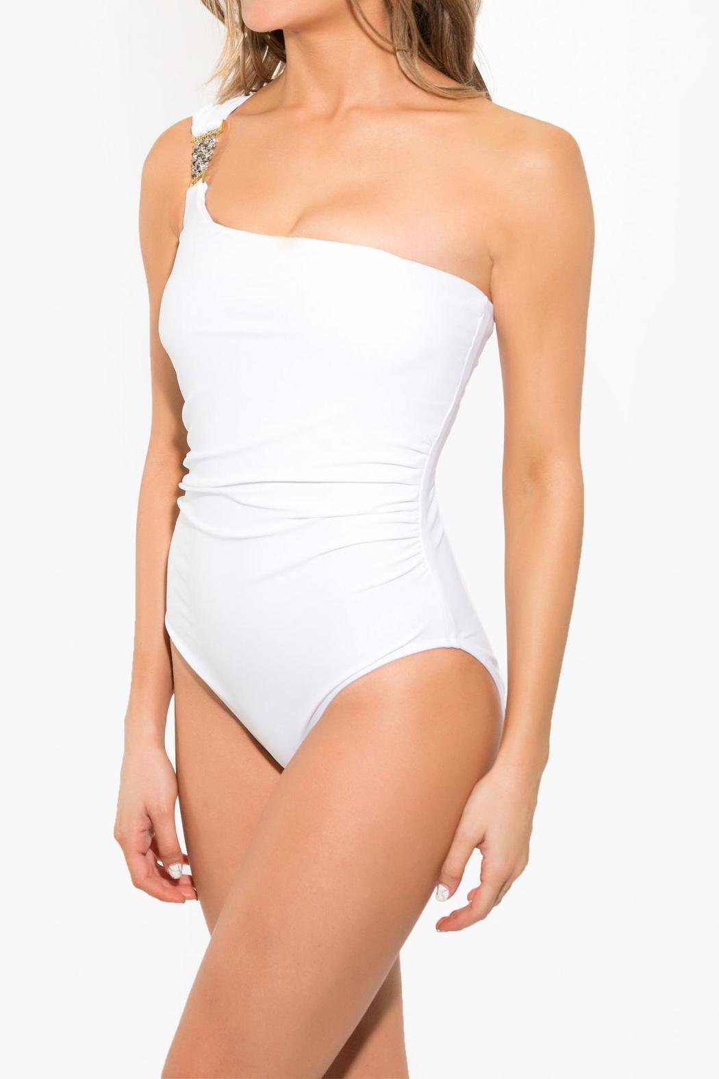 BeachCandy One Shoulder One Piece - Side Cropped Image