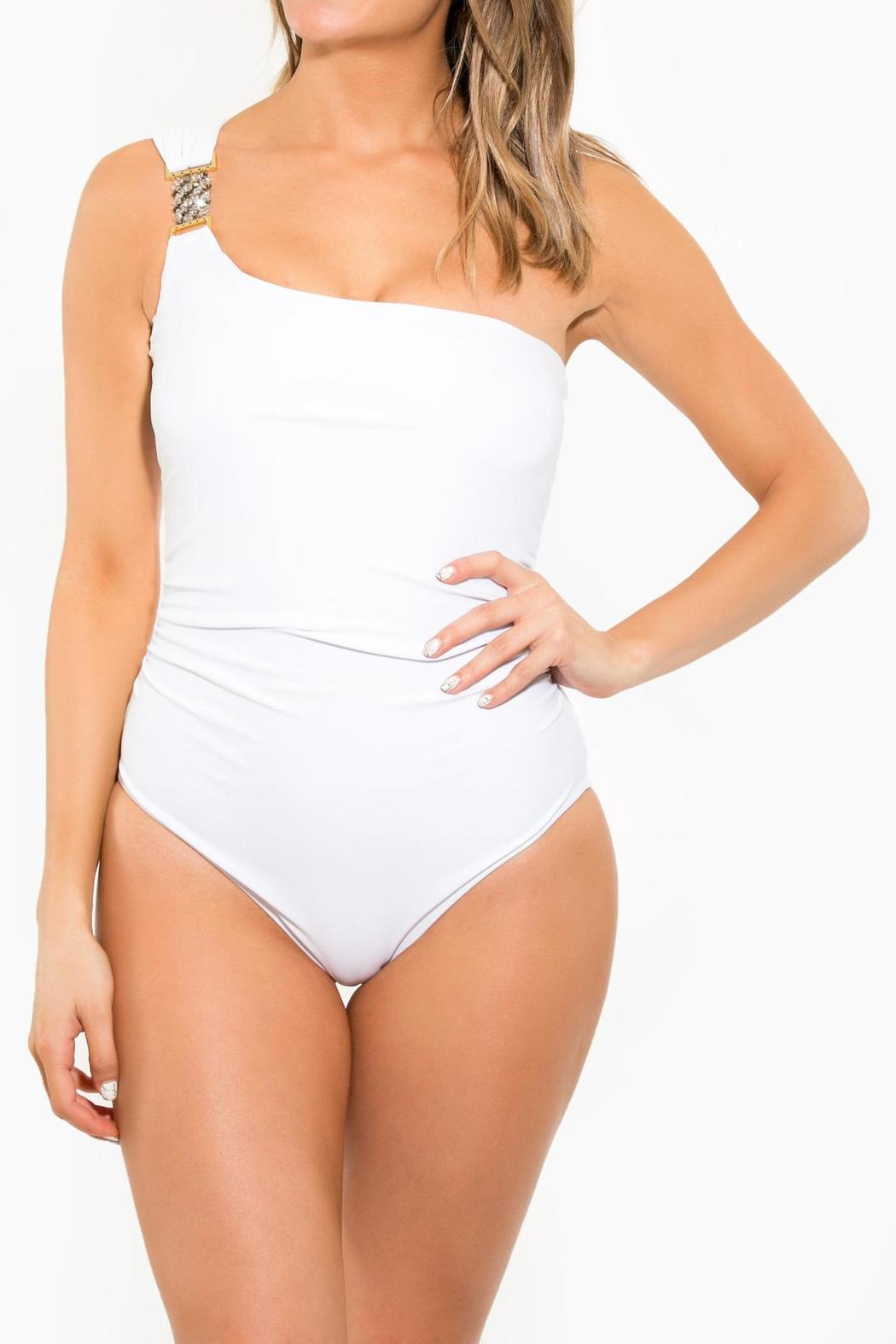 BeachCandy One Shoulder One Piece - Front Cropped Image