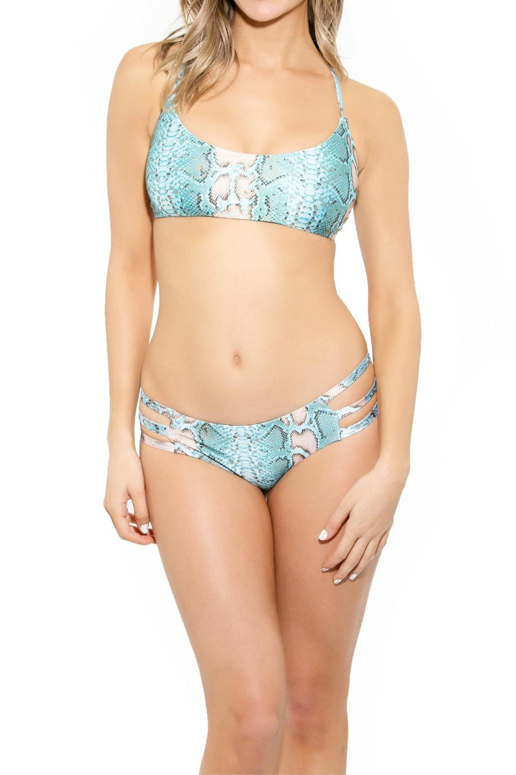 BeachCandy Scoop Bikini Top - Front Cropped Image