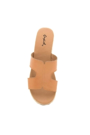 Qupid Beachie Espadrille Slide - Back cropped