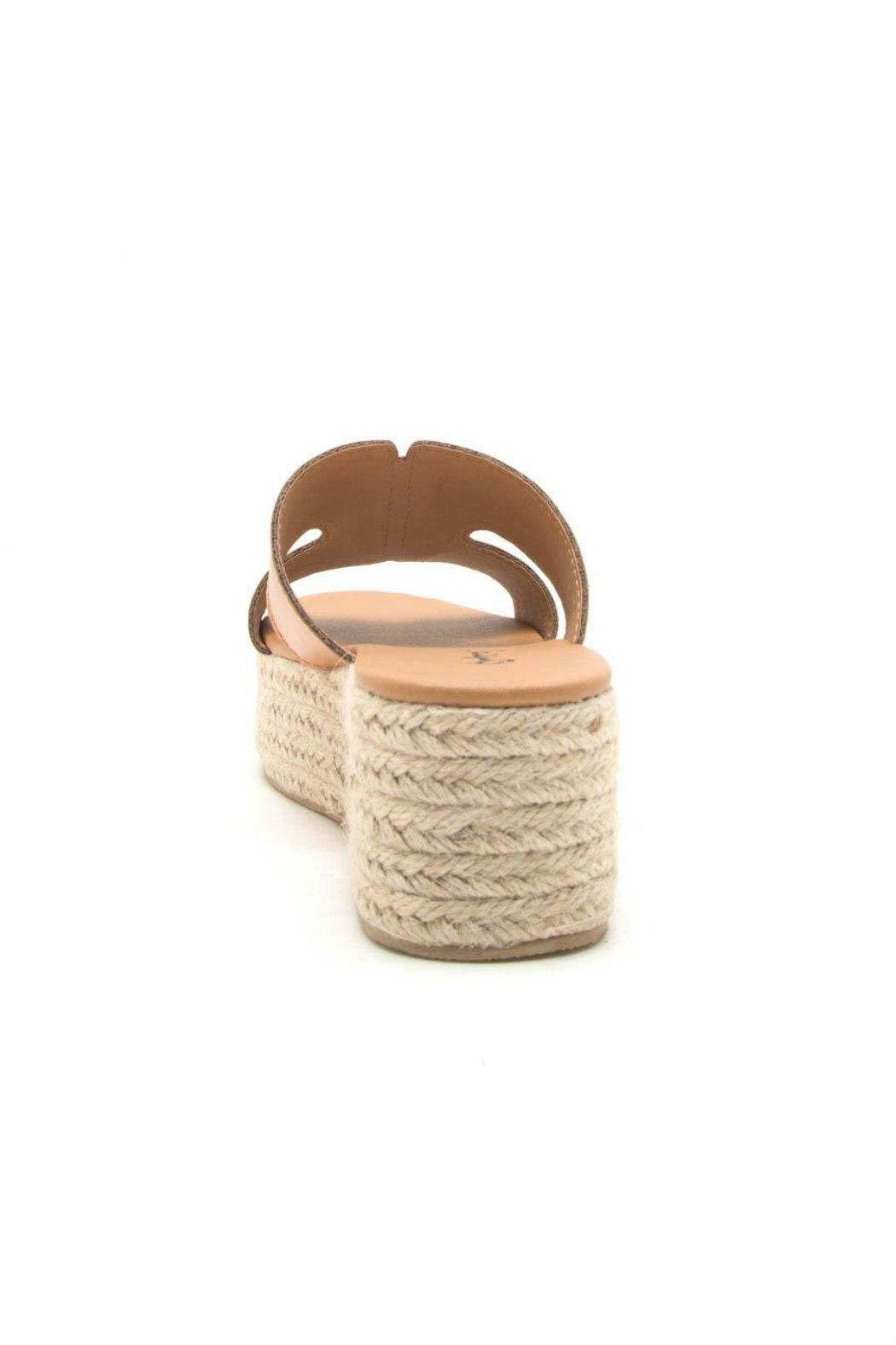 Qupid Beachie Espadrille Slide - Side Cropped Image