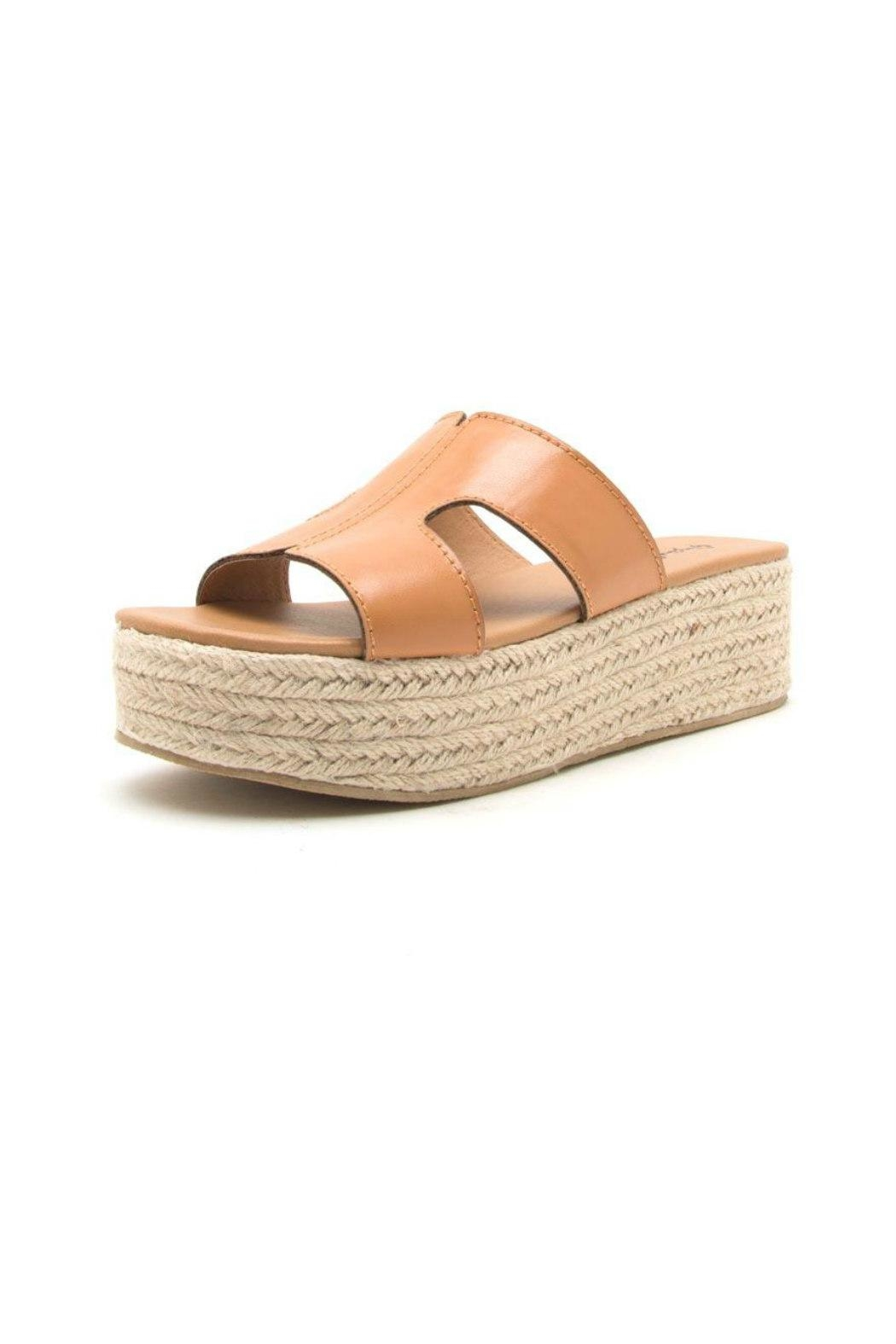 Qupid Beachie Espadrille Slide - Front Cropped Image