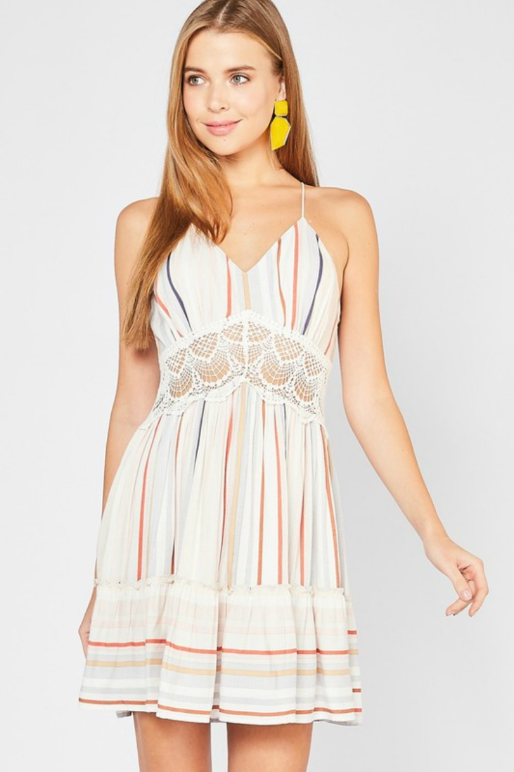 Entro Beachin Dress - Front Cropped Image