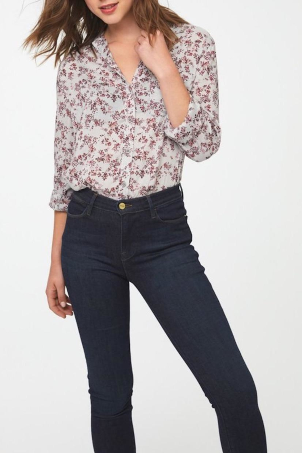 beachlunchlounge Alanna Floral Shirt - Side Cropped Image
