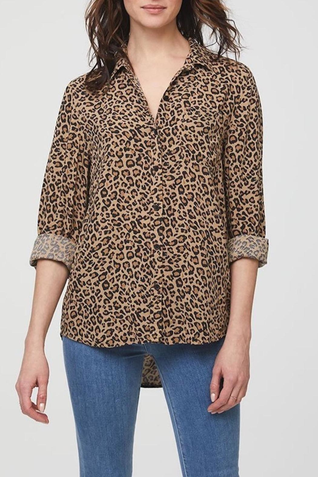 beachlunchlounge Animal Print Shirt - Front Cropped Image