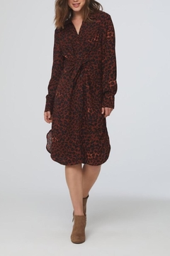 beachlunchlounge Animal Print Shirtdress - Product List Image