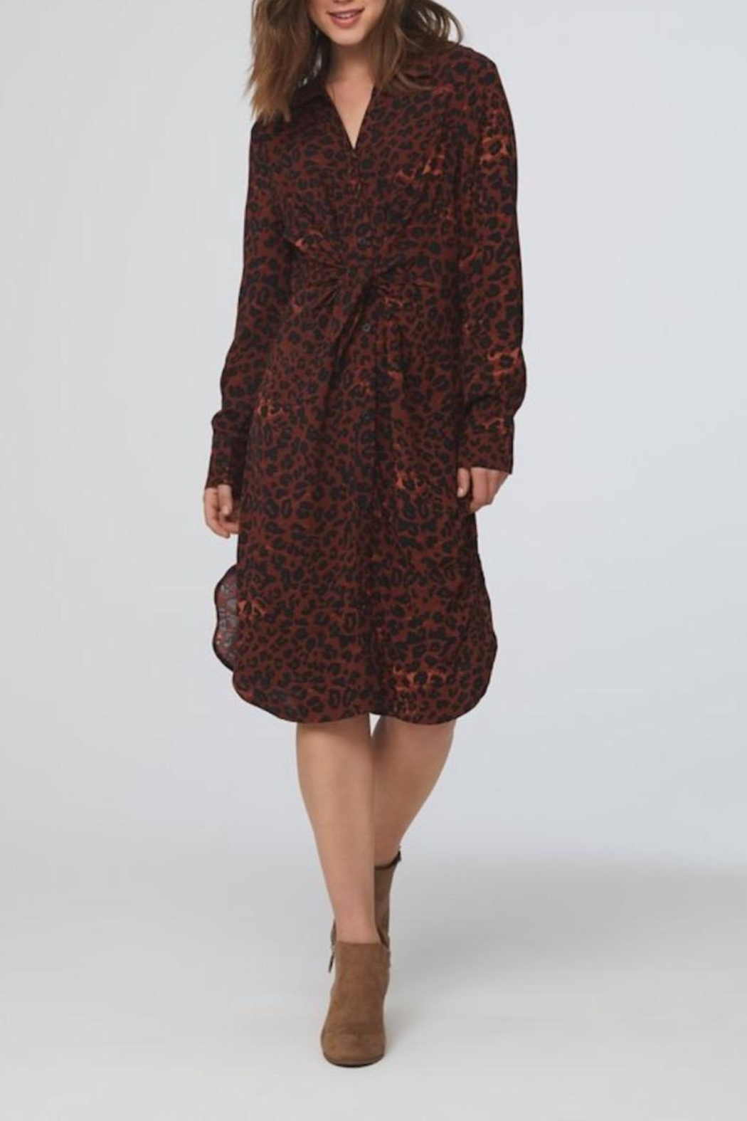 beachlunchlounge Animal Shirt Dress - Main Image