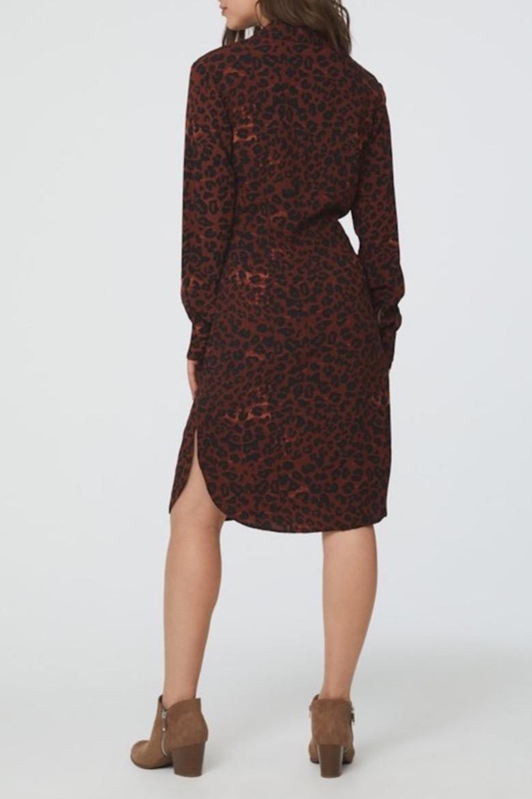beachlunchlounge Animal Shirt Dress - Side Cropped Image
