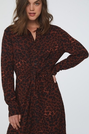 beachlunchlounge Animal Shirt Dress - Front full body