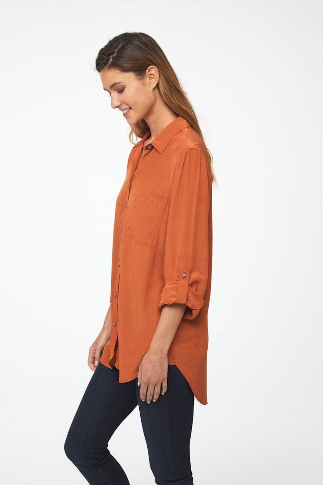 beachlunchlounge Burnt Orange Buttondown - Side Cropped Image