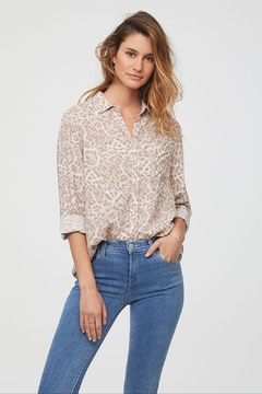 beachlunchlounge Cheetah Button Down - Product List Image