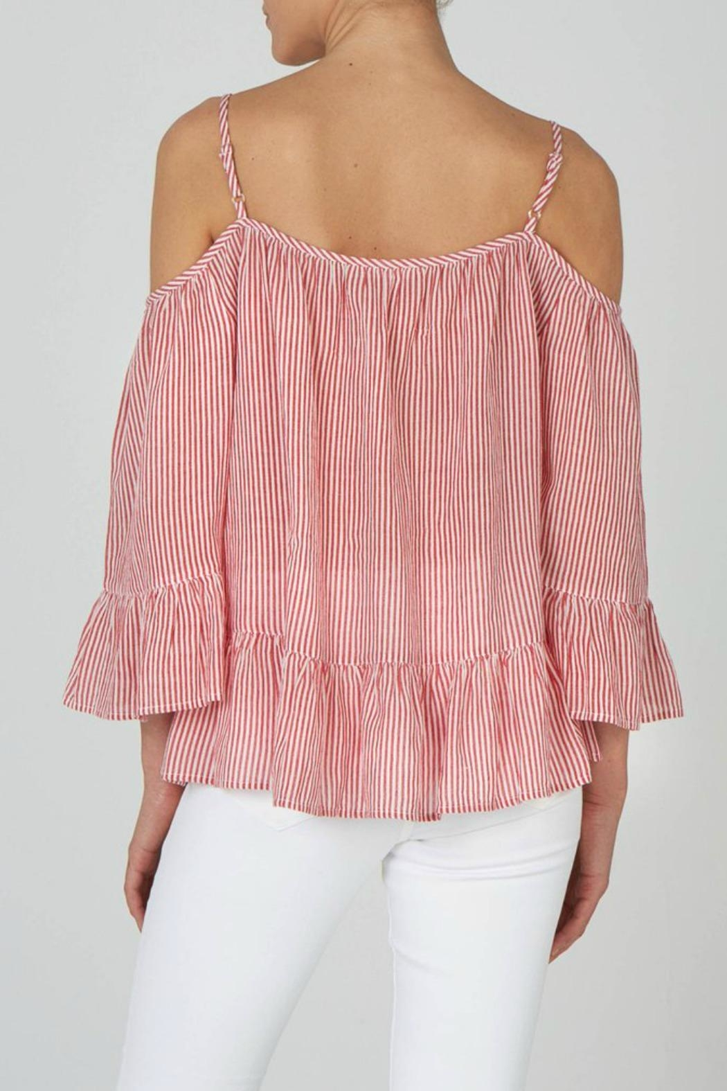 beachlunchlounge Cold Shoulder Top - Front Full Image