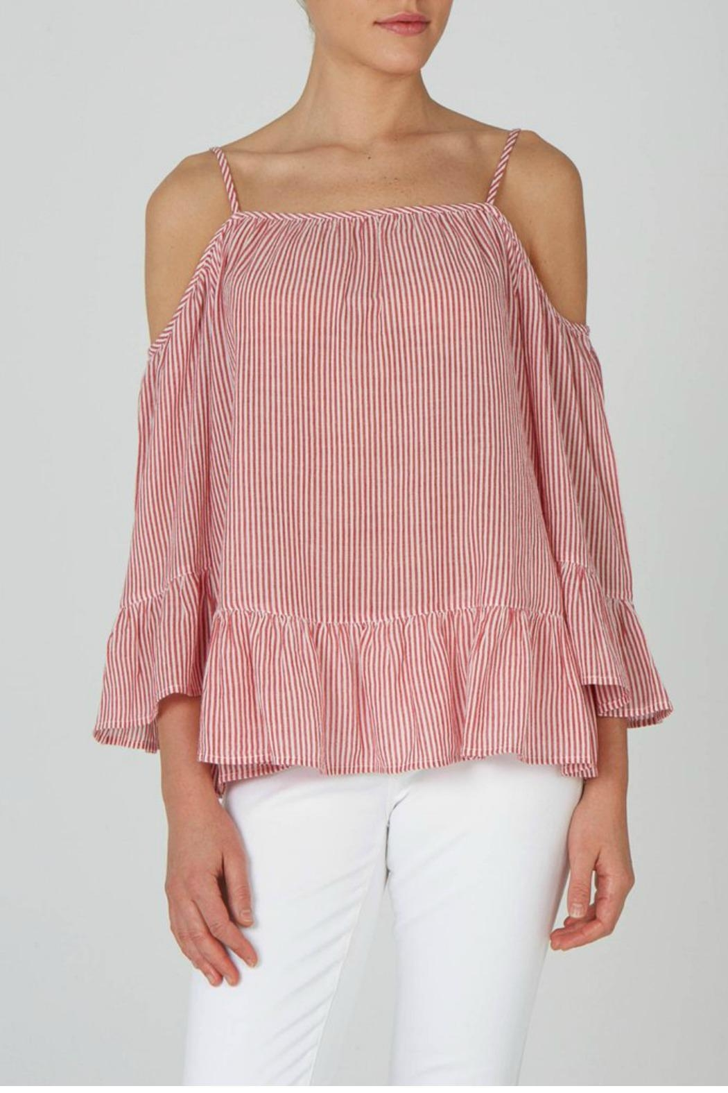 beachlunchlounge Cold Shoulder Top - Front Cropped Image
