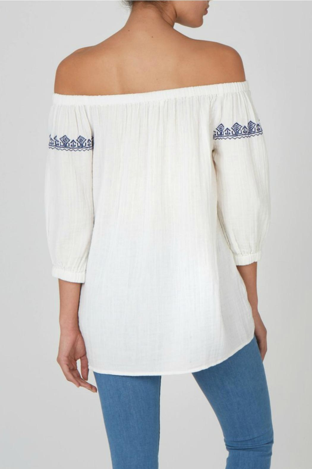 beachlunchlounge Off Shoulder Top - Front Full Image
