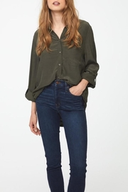 beachlunchlounge Olive Button Down - Front cropped