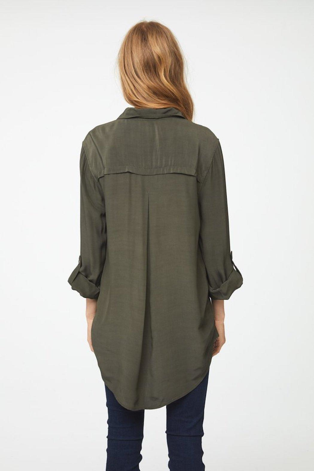 beachlunchlounge Olive Button Down - Front Full Image
