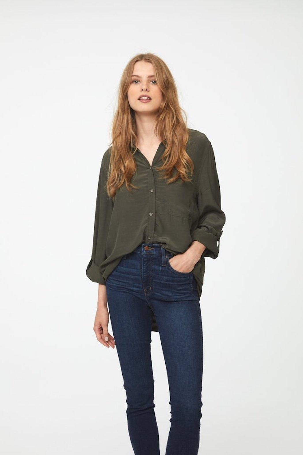 beachlunchlounge Olive Button Down - Main Image