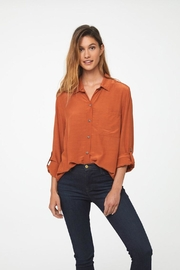 beachlunchlounge Orange Button Down - Back cropped