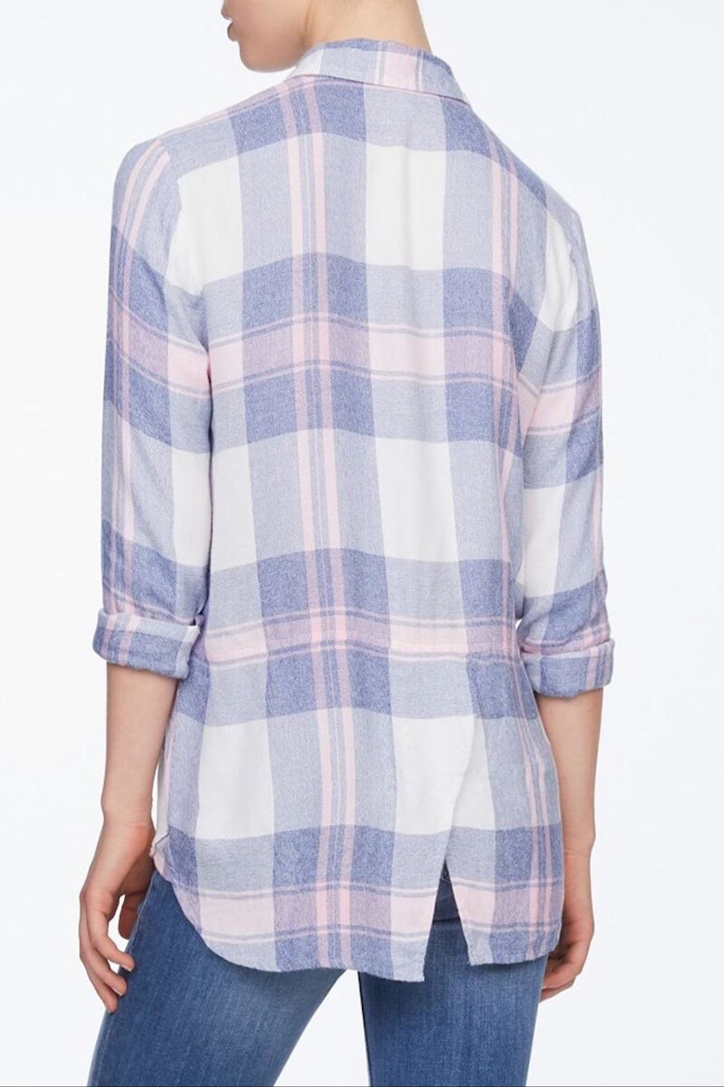 beachlunchlounge Plaid Flannel Shirt - Front Full Image