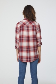 beachlunchlounge Red Flannel Buttondown - Side cropped