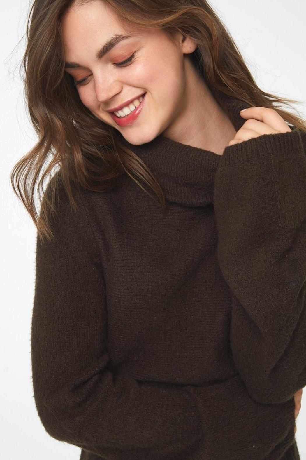 beachlunchlounge Sedona Turtleneck Sweater - Side Cropped Image