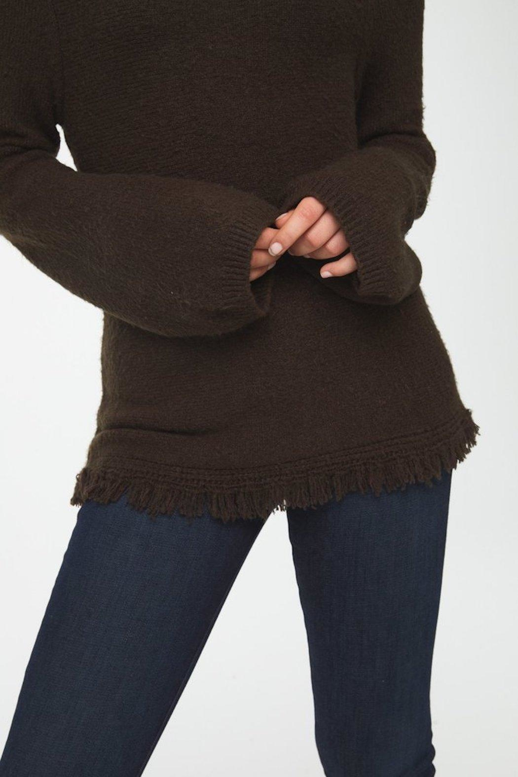 beachlunchlounge Sedona Turtleneck Sweater - Back Cropped Image
