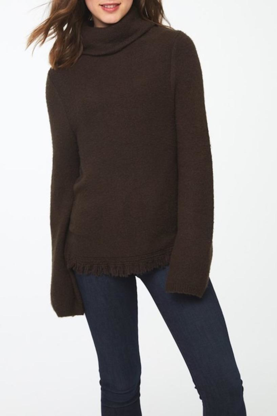 beachlunchlounge Sedona Turtleneck Sweater - Front Cropped Image
