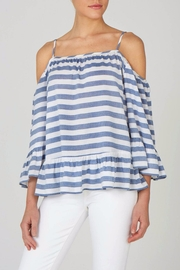 beachlunchlounge Cold Shoulder Top - Front cropped