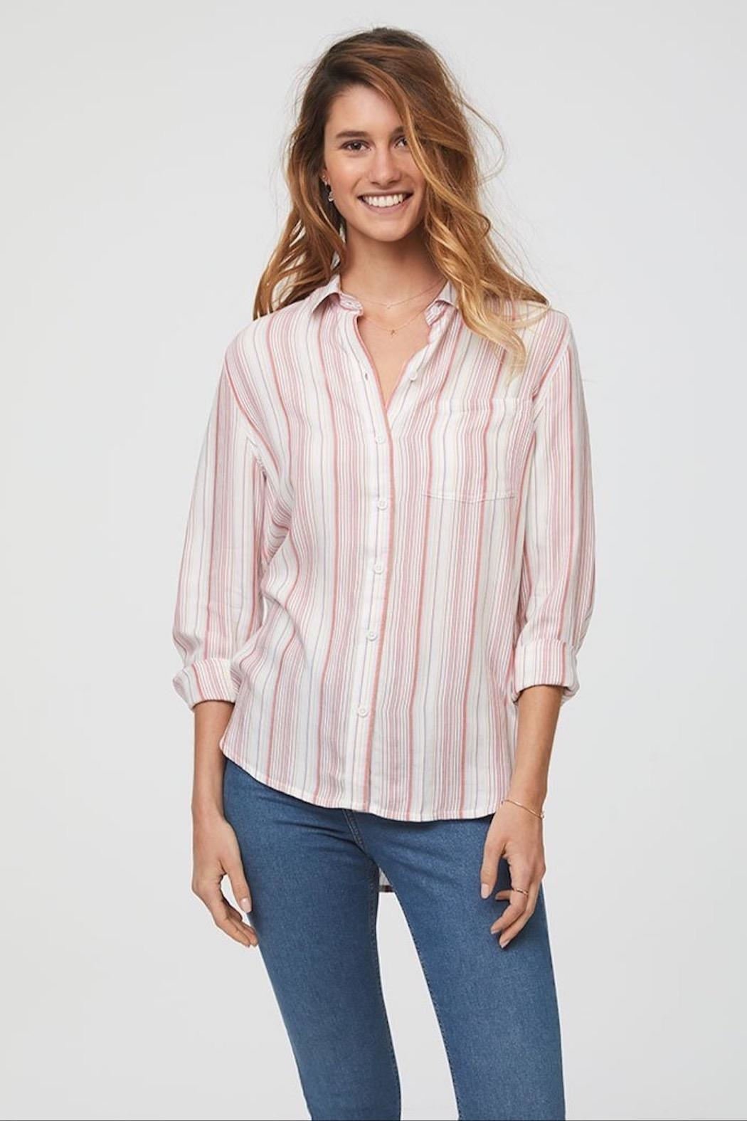 beachlunchlounge Striped Button Down - Main Image