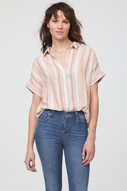 beachlunchlounge Striped Short Sleeve - Front cropped