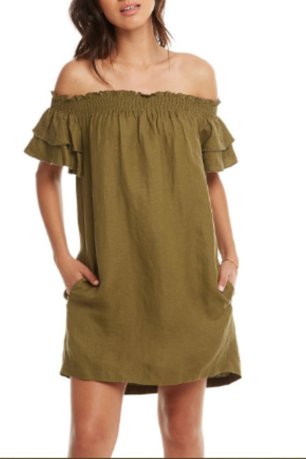 Chaser Beachy Linen Dress - Front Cropped Image