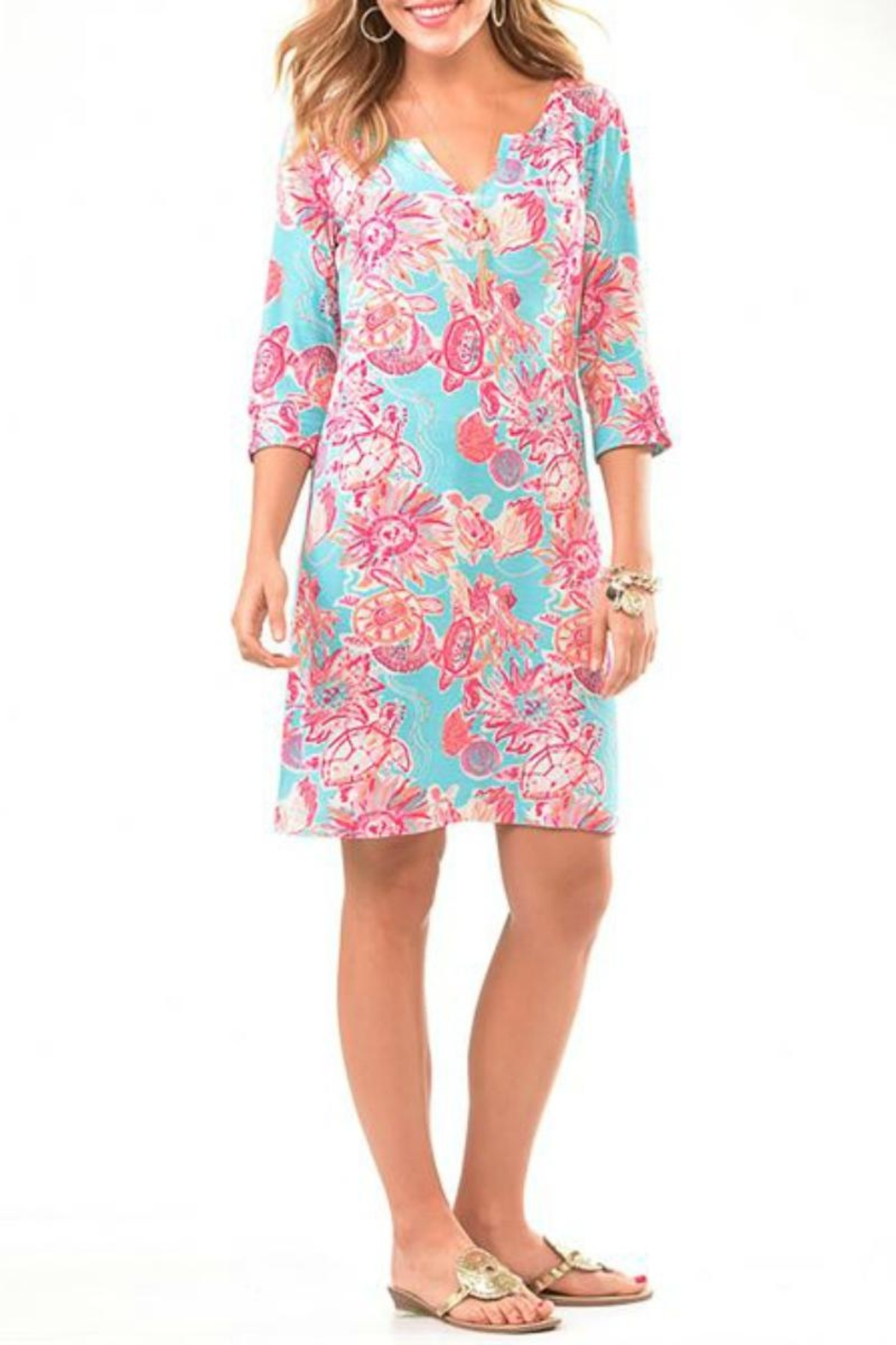 Charlie Paige Beachy Tunic Dress - Front Cropped Image