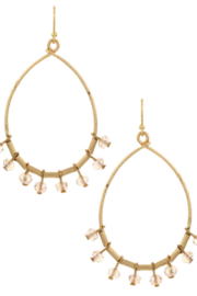 Bluebell Bead Drop Hoop Earrings - Product Mini Image