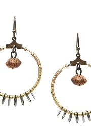 US Jewelry House Bead Hoop Earring - Front cropped