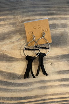 Shoptiques Product: Bead & Leather Earring