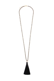 Riah Fashion Bead Tassel Necklace - Front cropped