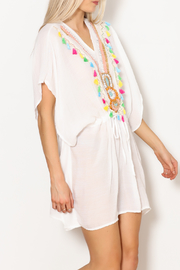 Laon Fashion Corp Bead & Tassel Trim Coverup - Product Mini Image