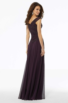 MGNY Beaded A-line Evening Gown - Alternate List Image